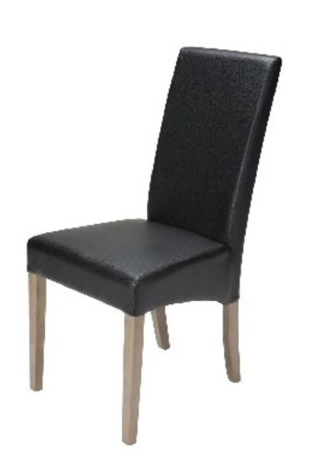 EMERSON PU UPHOLSTERED DINING CHAIR   - MOCHA/BLACK