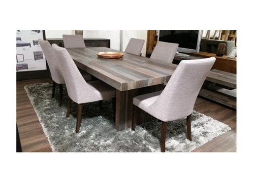SOHO  RECYCLED PINE  TIMBER  9 PIECE DINING SETTING WITH 2100(W) x 1000(D) TABLE  - HEIRLOOM
