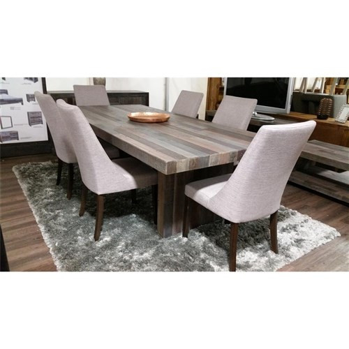 SOHO  RECYCLED PINE  TIMBER  7 PIECE DINING SETTING WITH 2100(L) TABLE  - HEIRLOOM
