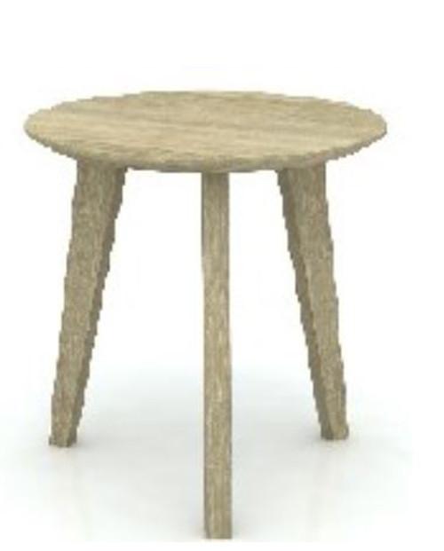 TEMO HARDWOOD LAMP / SIDE TABLE  - GREY