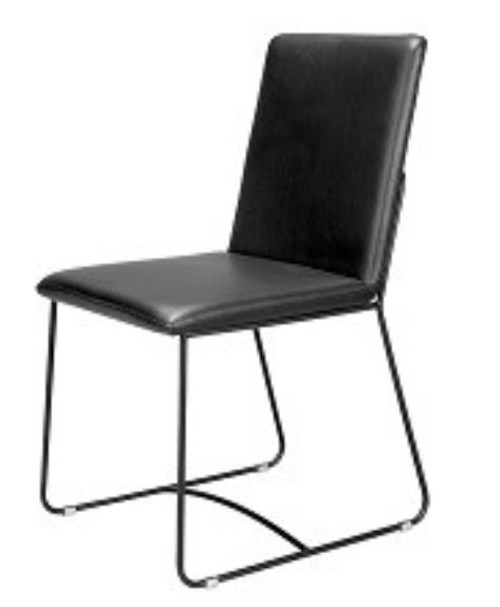 BENJI SHEVA LEATHERETTE  UPHOLSTERED DINING CHAIR -  BLACK