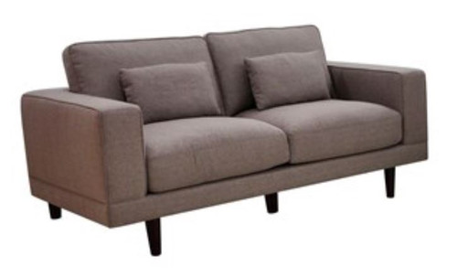 BASSET 2 SEATER  FABRIC SOFA LOUNGE -1890L X 980W-  STONE