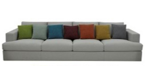 DHALIA 4 SEATER FABRIC SOFA CHAIR -3410(L) X 1040(W)   - CLOUD