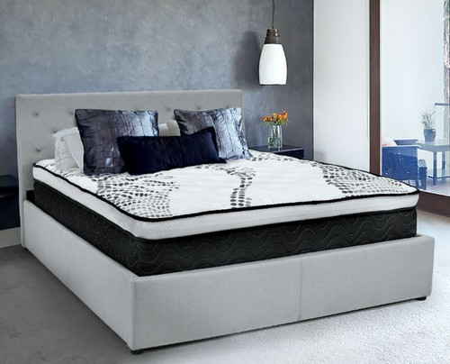 VEVO KING SINGLE   EURO TOP POCKET SPRING MATTRESS  - MEDIUM