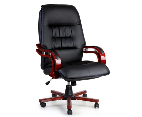 EXECUTIVE LEATHERETTE OFFICE COMPUTER  CHAIR  - BLACK