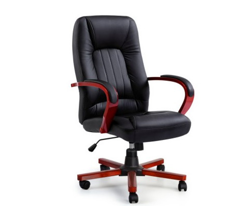 EXECUTIVE SEMPER LEATHERETTE OFFICE COMPUTER  CHAIR  - BLACK