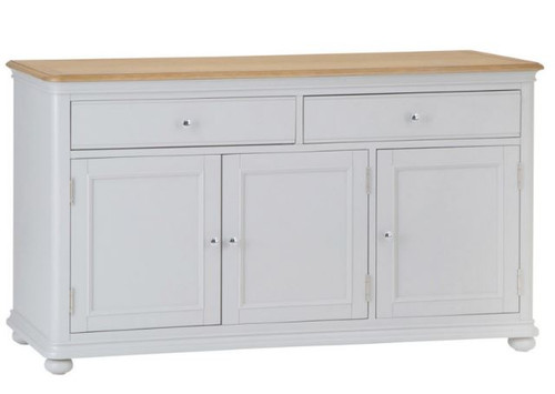 GLANCE  LARGE 3 DOOR 2 DRAWER OAK SIDEBOARD BUFFET- (13-14) - 850(H) X 1500(W)  -2 TONE