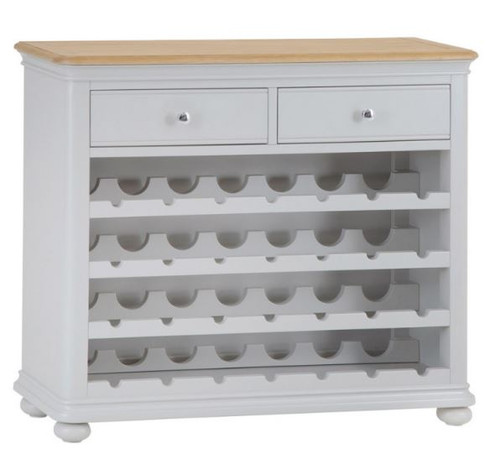 GLANCE 28 BOTTLE WINE RACK WITH 2 DRAWERS - (13-14) - 850(H) X 1000(W)  -2 TONE