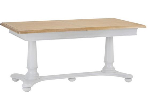 GLANCE  OAK 1.6M EXTENSION DINING TABLE- (13-14) - 730(H) X 1600(W)  -2 TONE