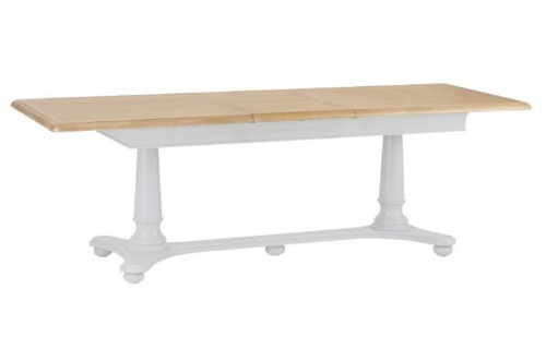 GLANCE  OAK 2.1M EXTENSION DINING TABLE- (13-14) - 730(H) X 2100(W)  -2 TONE