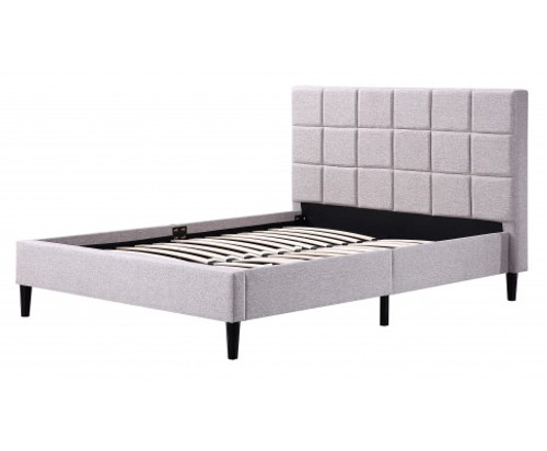 DELUXE DOUBLE FABRIC BED FRAME-  BEIGE