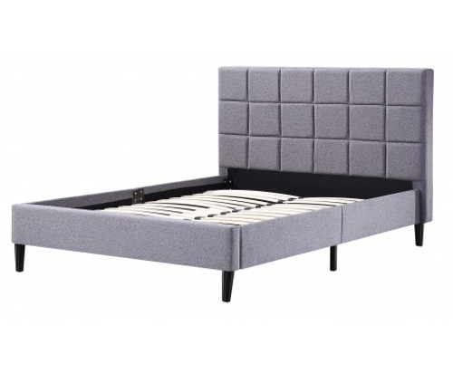 DELUXE DOUBLE FABRIC BED FRAME-  GREY