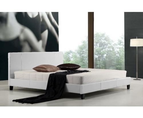 LEXUS  KING LEATHERETTE BED FRAME  -WHITE