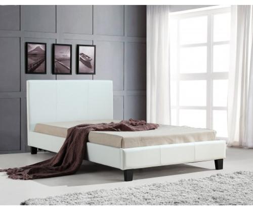 BELLA   KING SINGLE LEATHERETTE BED FRAME  -  WHITE