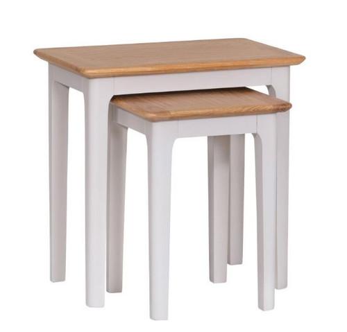 SPARING NEST OF 2 TABLES (NTP-N2T) - PALE GREY / OAK