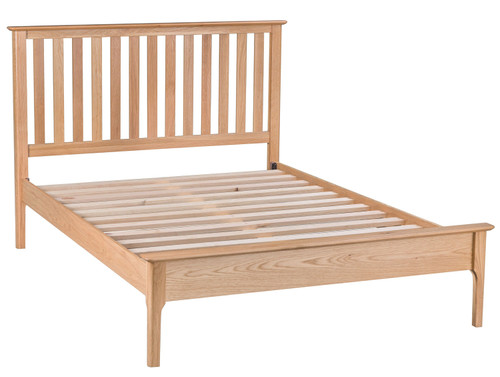 DOUBLE ROBINHOOD SLATTED OAK BED FRAME (NT-46FH-AUS) - NATURAL