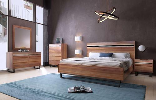 MODENA QUEEN 6 PIECE (THE LOT) BEDROOM SUITE - BLACKWOOD