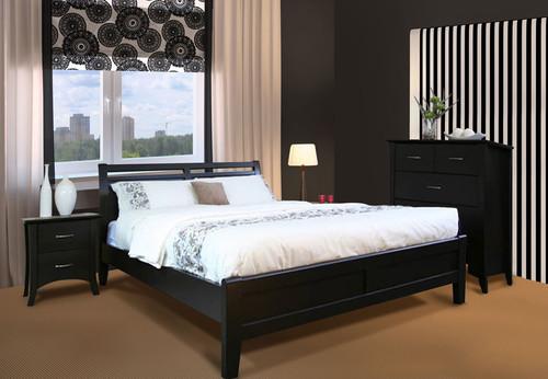 SAVANNAH KB-SHO (MODEL 19-15-8-15) KING 3 PIECE BEDSIDE BEDROOM SUITE - DARK CHOCOLATE