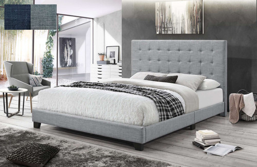 DOUBLE PRAGUE BED - CHARCOAL OR LIGHT GREY