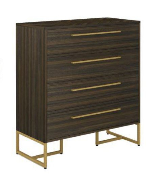 COUNTRY 4 DRAWER HARDWOOD TALLBOY  (18-15-13-1) - TESKY
