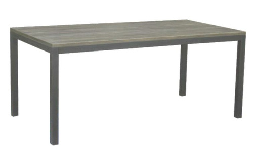 MANGO 1.5M DINING TABLE WITH METAL LEGS -(WOBN-021) - NATURAL DISTRESSED FINISH