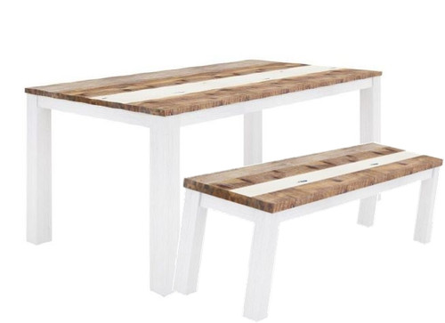 ROVER  3 PIECE BENCH DINING SETTING WITH  -2000(L) X 1000(W) TABLE - (4-15-22-5-18) - MULTI-COLOR