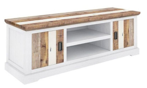 ROVER  HARDWOOD TV ENTERTAINMENT UNIT WITH 2 DOORS & NICHES- 600(H) X 1800(W) - (4-15-22-5-18) - MULTI-COLOR