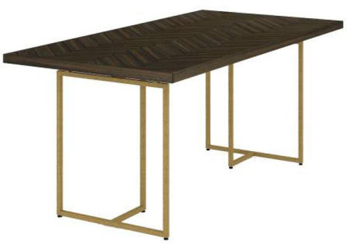 COUNTRY DINING TABLE WITH METAL LEGS (18-15-13-1) 1800(L) X 900(W) - TESKY