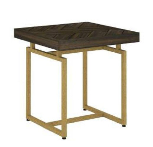 COUNTRY LAMP TABLE WITH METAL LEGS (18-15-13-1) - TESKY