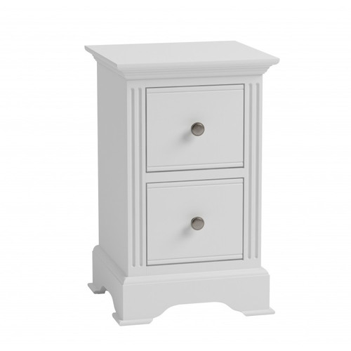 TORRIDGE  2 DRAWER SMALL BEDSIDE TABLE (BPW) - WHITE