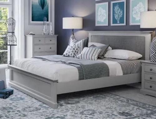 DOUBLE TORRIDGE PANEL BED FRAME (BPG) - GREY
