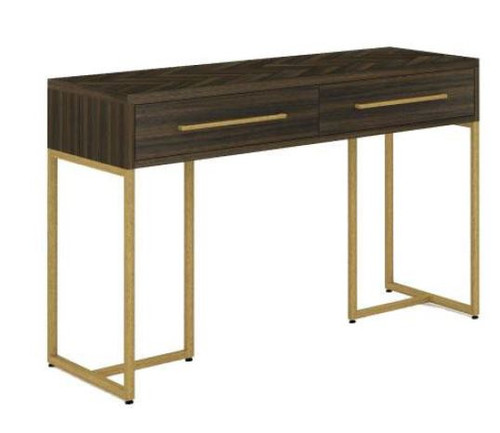 COUNTRY 2 DRAWERS  CONSOLE/HALL TABLE WITH METAL LEGS (18-15-13-1) 750(H) X 1200(W) - TESKY