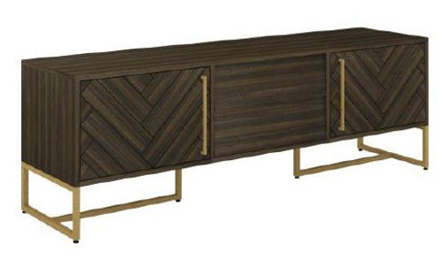 COUNTRY 2 DOORS + DRAWERS TV UNIT  WITH METAL LEGS (18-15-13-1) 600(H) X 1800(W) - TESKY