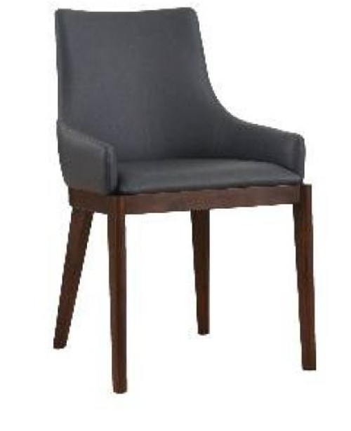 COUNTRY LEATHERETTE DINING CHAIR  (18-15-13-1) 610(H) X 530(W) -GREY