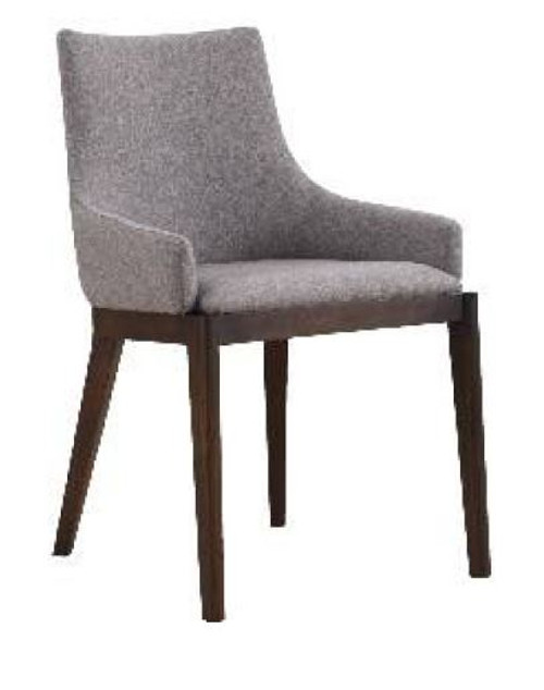COUNTRY FABRIC  DINING CHAIR  (18-15-13-1) 610(H) X 530(W) -GREY