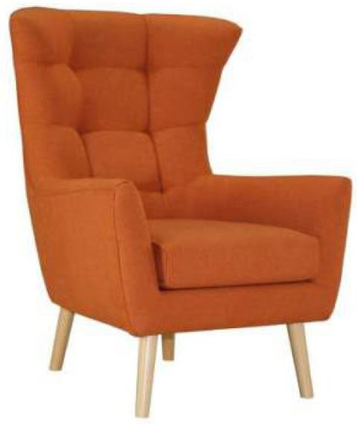 STOCKHOLM FABRIC ARM SOFA CHAIR-  ORANGE