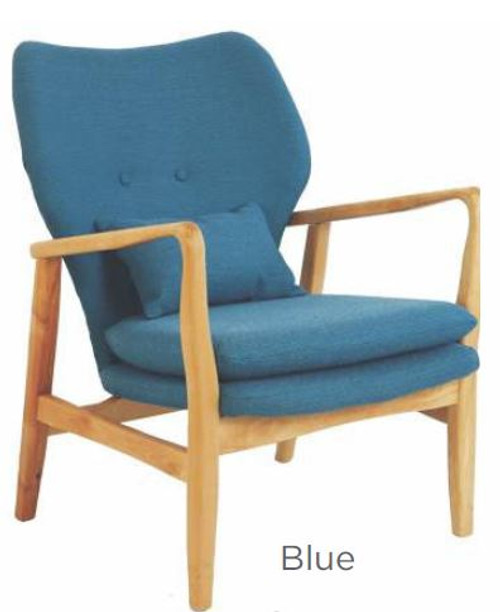 LUCCA FABRIC ARM CHAIR-  BLUE