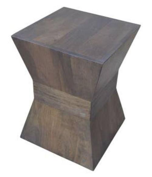MAHARANI X SHAPED LAMP / SIDE TABLE - OAK
