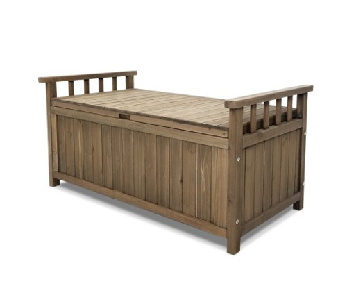 MANDERSON SOLID PINE  OUTDOOR/INDOOR STORAGE BENCH/BOX - NATURAL