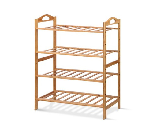 HARRIS SHOE RACK   4 SHELVING TIERS  - 760(H) x 680(W) -  NATURAL