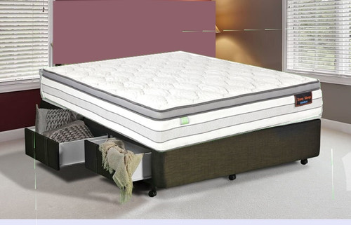 QUEEN ZONESLEEP POCKET SPRING ENSEMBLE (MATTRESS & BASE) WITH SE SERIES 1 BASE - MEDIUM