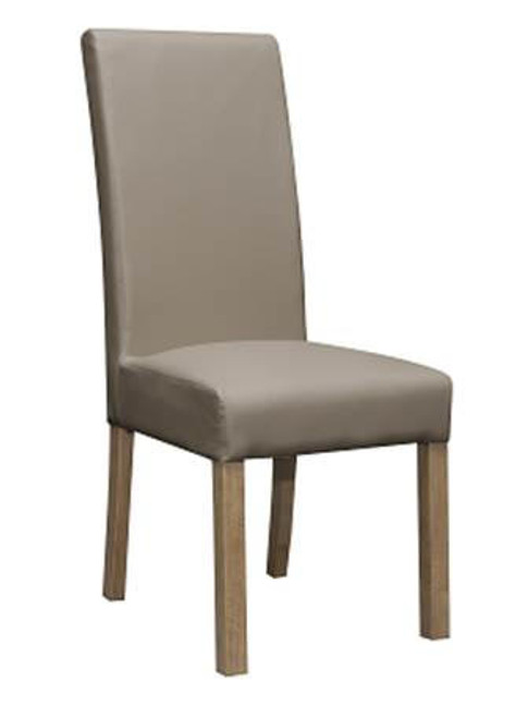MILLIAN   LEATHERETTE UPHOLSTERED DINING CHAIR  - CLAY OR HICKORY