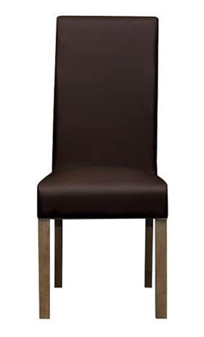 MILLIAN   LEATHERETTE UPHOLSTERED DINING CHAIR  -HICKORY OR  CLAY