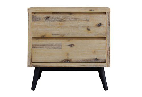ARREDO 2 DRAWER BEDSIDE TABLE - AS PICTURED