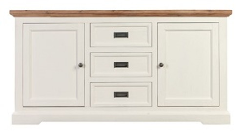 BALMAIN WITH 2 DOORS AND 3 DRAWERS BUFFET - WHITE