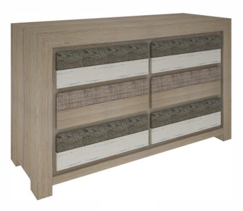 CHATEAU 6 DRAWERS DRESSER TABLE - AS PICTURED
