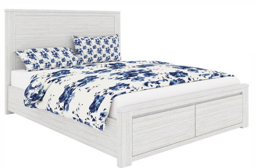 QUEEN CHATEAU ACACIA 3 PIECE BEDSIDE BEDROOM SUITE - AS PICTURED