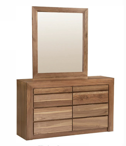 FLINDERS 6 DRAWERS DRESSING TABLE WITH MIRROR - 1380(W) - AS PICTURED