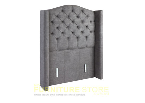DOUBLE WANDA FABRIC UPHOLSTERED BED HEAD ONLY - ASSORTED COLOURS