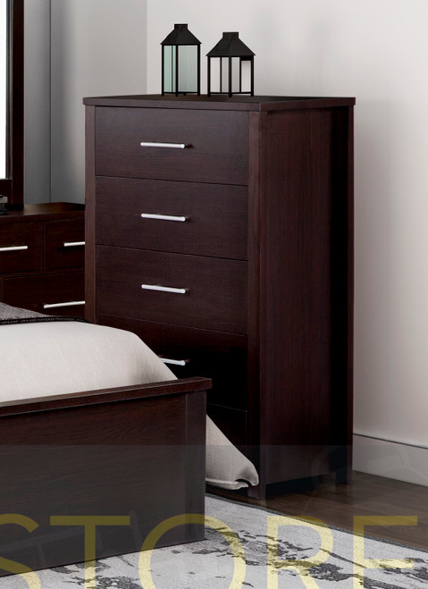 AMAZING 5 DRAWERS TALLBOY (MODEL:3-18-5) - LIGHT OAK , WHITE OR CHOCOLATE (PICTURED)